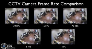 CCTV Security Camera Video Recording Frame Rate Comparison