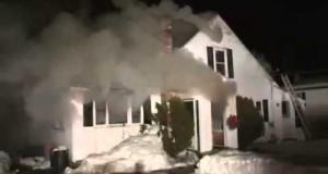 Drunken mans home destroyed by fire