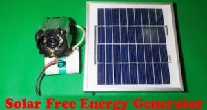 Solar Free Energy Generator Homemade Spy Camera CCTV DIY Free Energy Commercial Security Battery