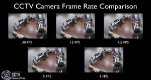 CCTV Security Camera Video Recording Frame Rate Comparison