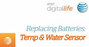 How To Replace Temperature & Water Sensor Batteries: Digital Life Support | AT&T