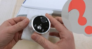 Motion Activated Digital Peephole, security Camera Unboxing, Installation and Handson